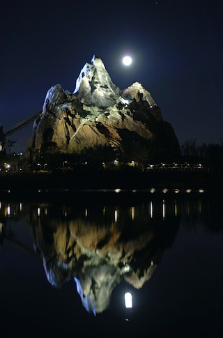 Expedition Everest at Night. Photo via @according2kelly.