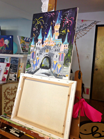 Painting Class with Timree Gold, Disney Castle