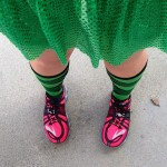 Green Team Sparkle Skirt for a St. Patrick's Day Run