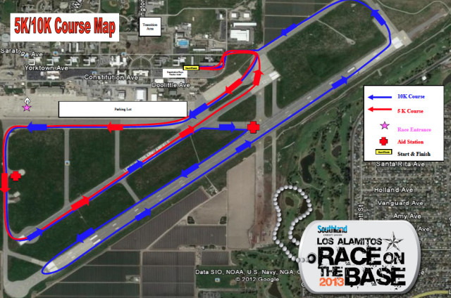 Race On the Base Course Map