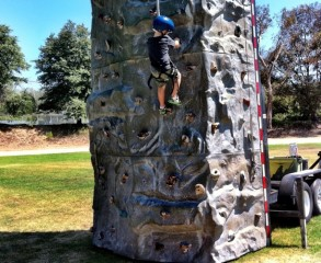 Rock Climbing Wall at Summer Camp