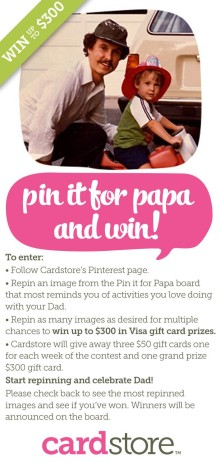 Pin It For Papa and Win with Cardstore.com