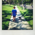 Summer Chores, Walking The Dog