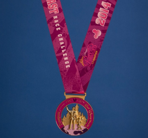 2014 Special Edition Pink runDisney Coast to Coast Medal
