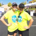 @according2kelly and I volunteering at the 2013 iTRYathlon