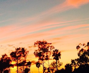 Fall Sunset in Orange County