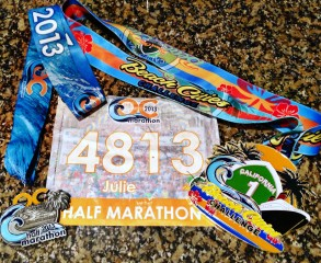 2013 OC Half Marathon and Beach Cities Challenge Medals