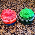 Denver Broncos and Seattle Seahawks Cupcakes